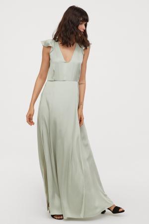 Robe longue satinée – H&M