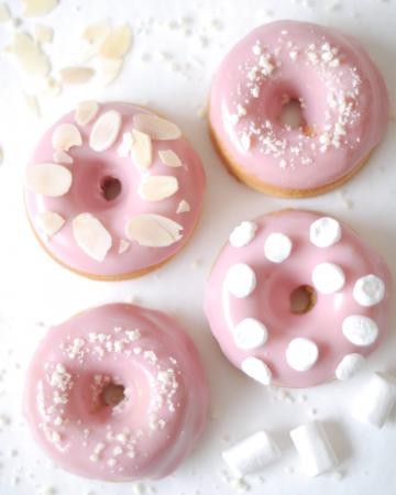 Strawberries & cream donuts