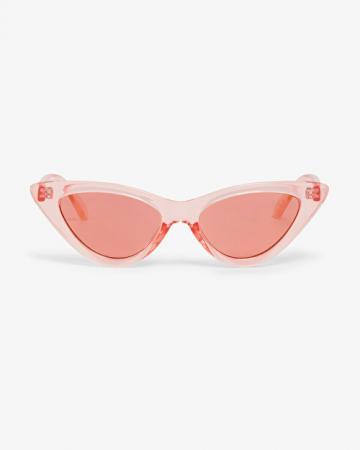 Roze transparante zonnebril