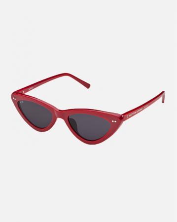 Cat eye-zonnebril met rood montuur