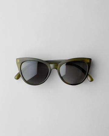 Kaki cat eye-bril