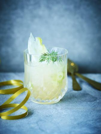 Cocktail van vermout, pompelmoes en venkel