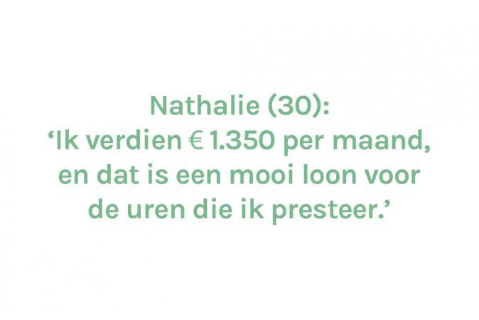 Nathalie (30) – € 1.350 (halftijds)
