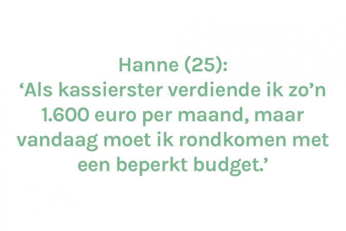 Hanne (25) – € 980 à € 1.025/maand aan stempelgeld
