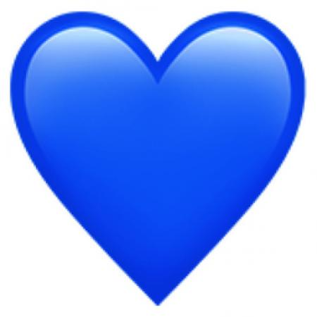 Blauw hartje