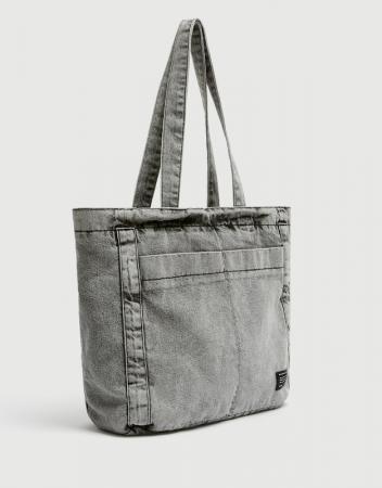 Cabas en jeans délavé – Pull & Bear