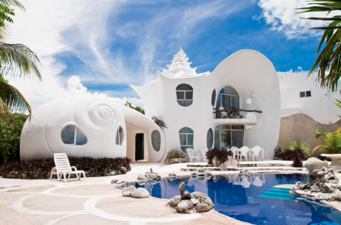 In een slakkenhuisje – Isla Mujeres, Mexico
