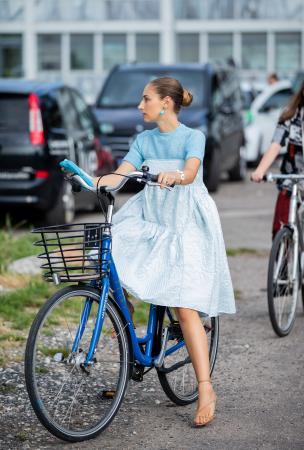 Stijlvol de fiets op