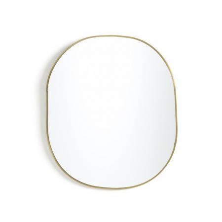 Ovale spiegel in messing