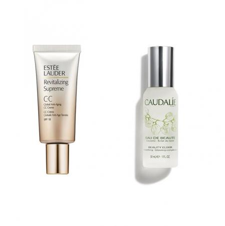 Revitalizing Supreme CC cream vanEstée Lauder + Eau de Beauté vanCaudalie