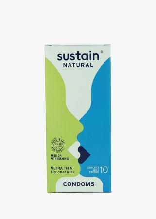 Duurzame condooms in een kartonnen verpakking