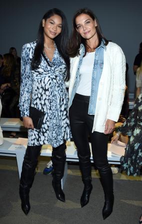 Chanel Iman en Katie Holmes