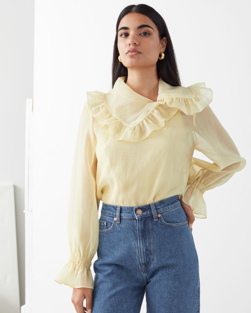 Doorzichtige gele blouse