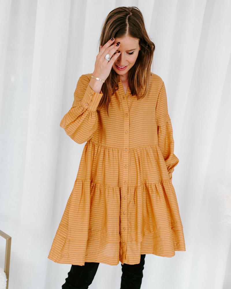 Okergele jurk