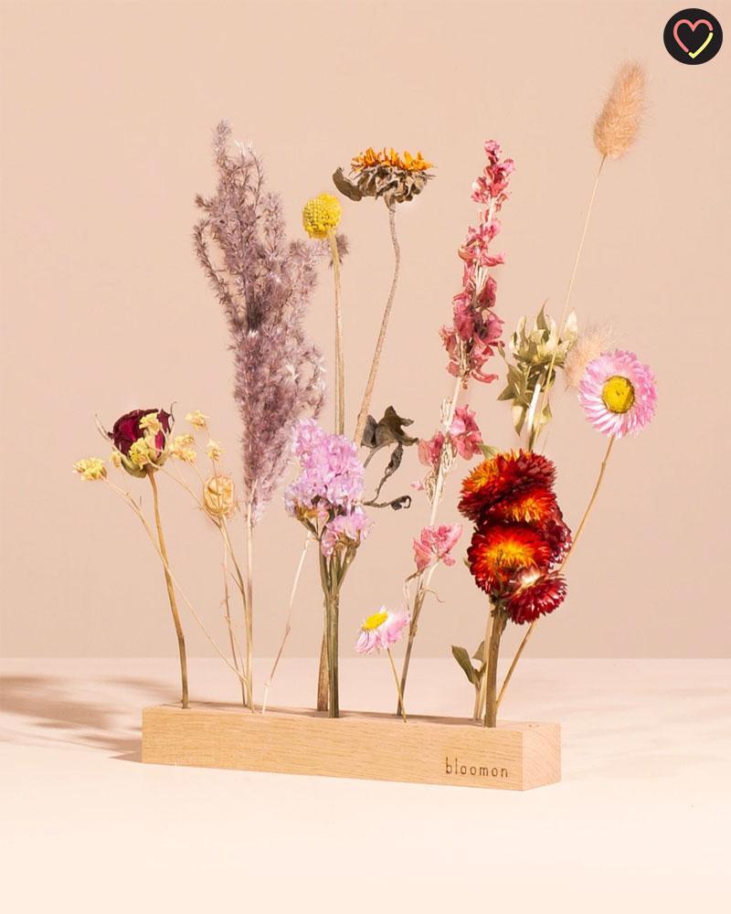 Composition de fleurs séchées chez Bloomon