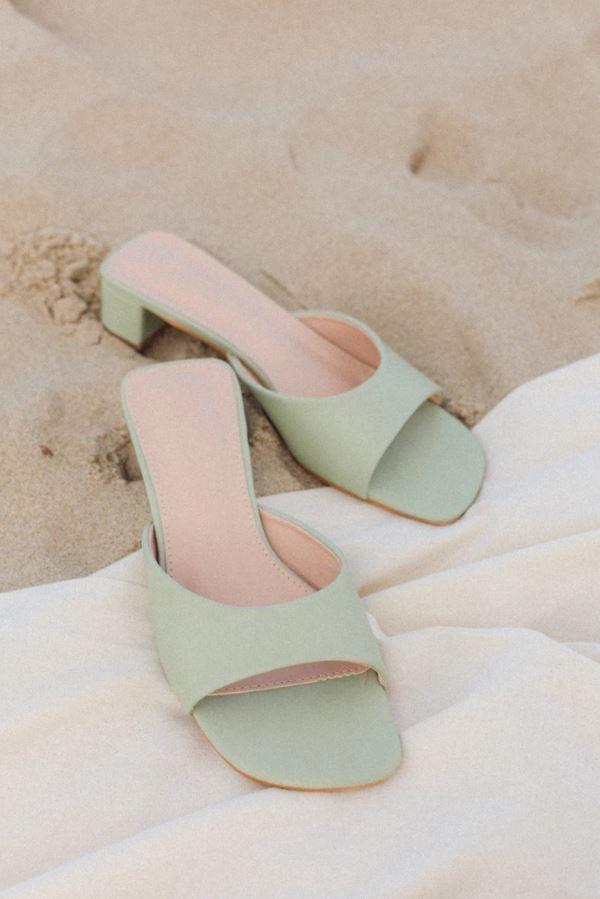 Sandales pistache