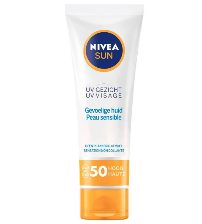 Voor de gevoelige huid:UV Gezicht Gevoelige Huid SPF 50
