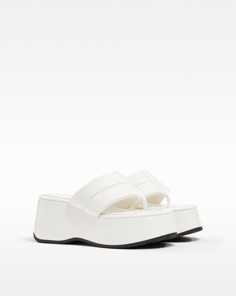Gewatteerde sandaal met plateauzool
