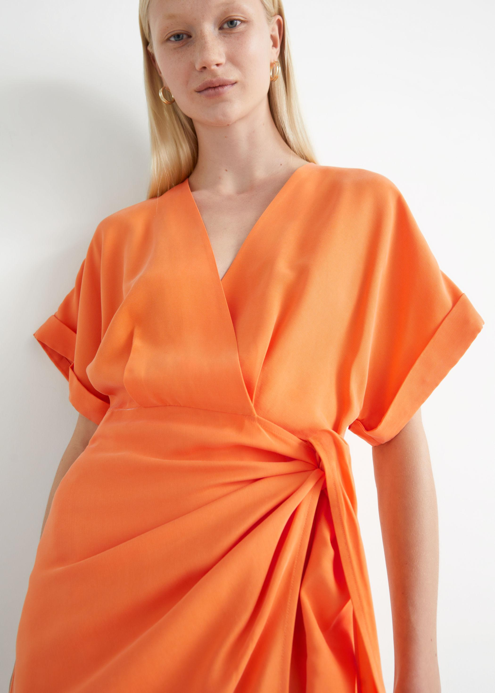 Robe nouée orange