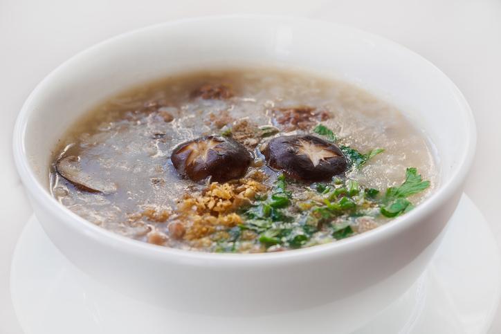 Porridge salé aux shiitakés