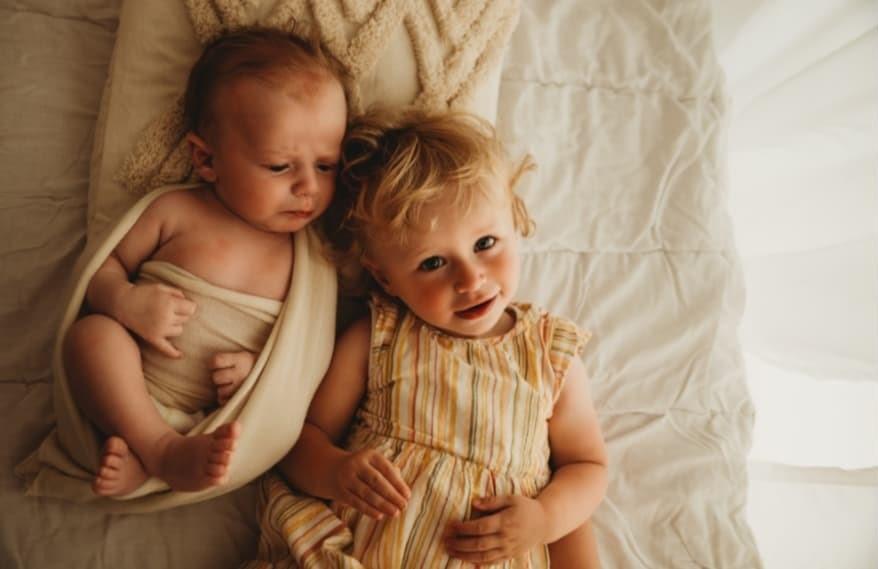 Le premier shooting photo de mes deux enfants