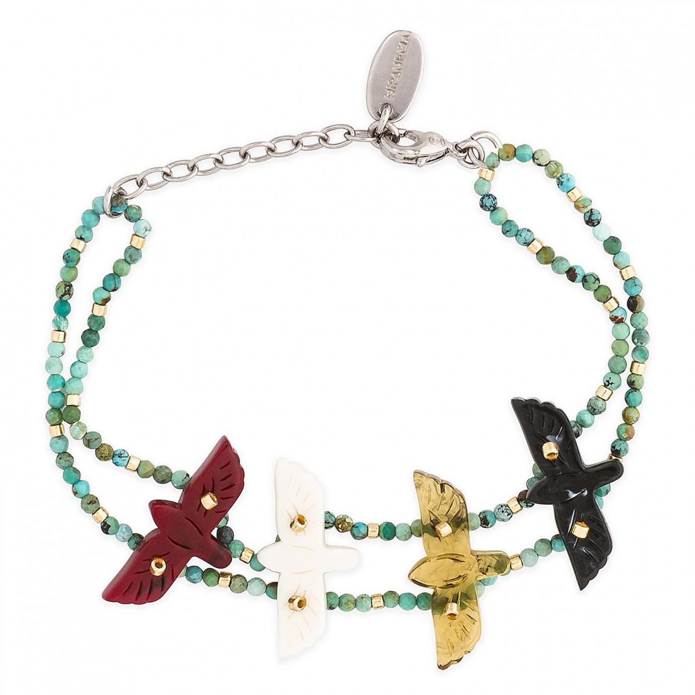 Bracelet avec envol d'aigles