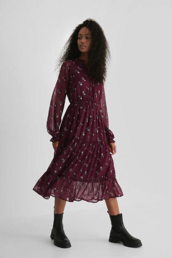 Bordeaux jurk