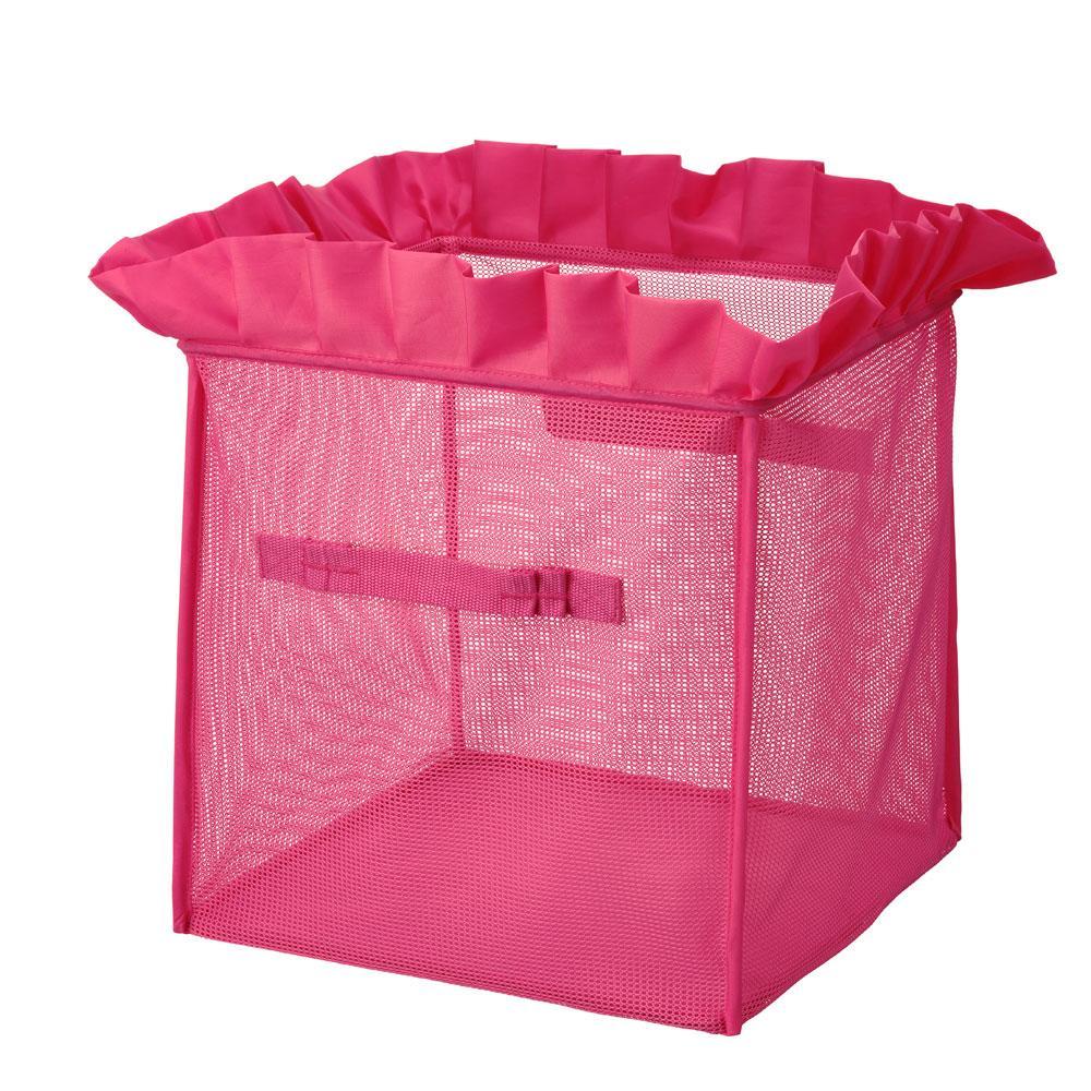 Roze opbergdoos met plooien