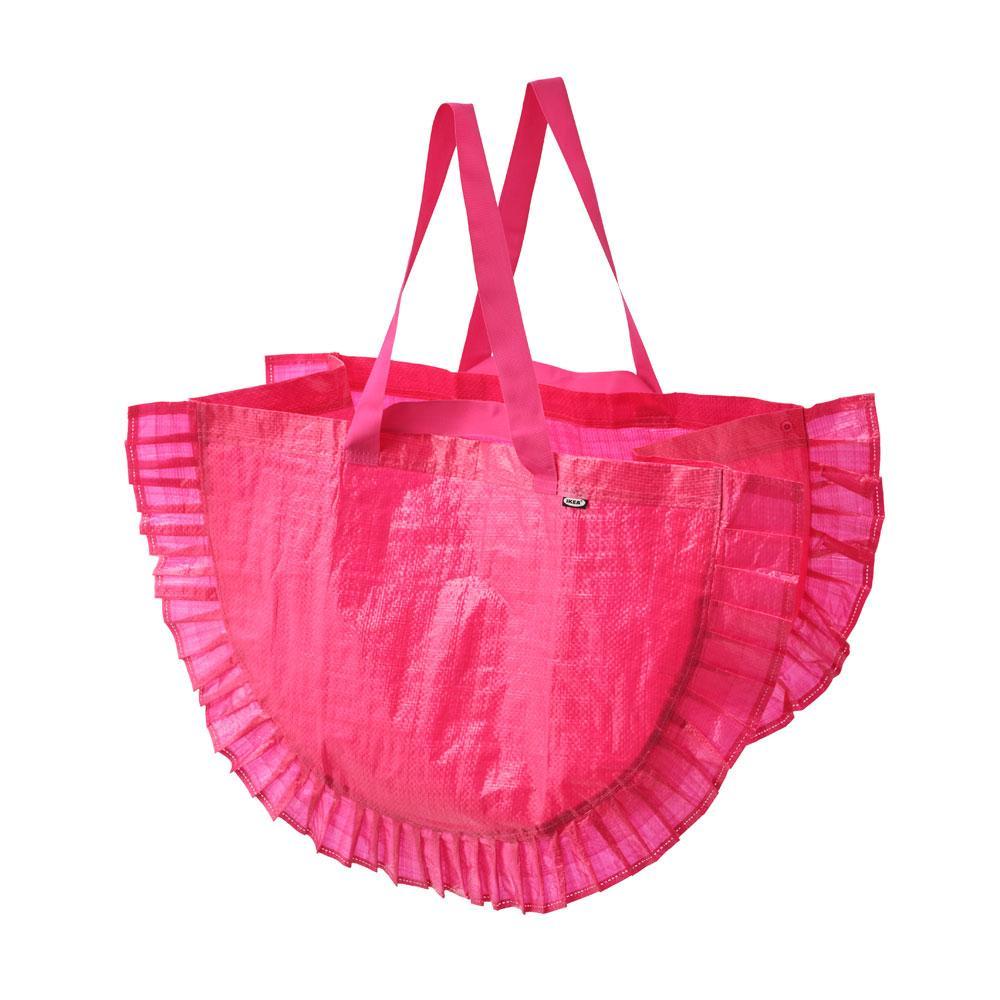 Roze draagtas met ruches