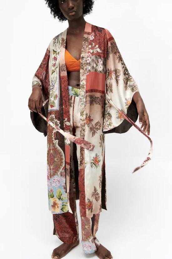 Kimono met patchwork