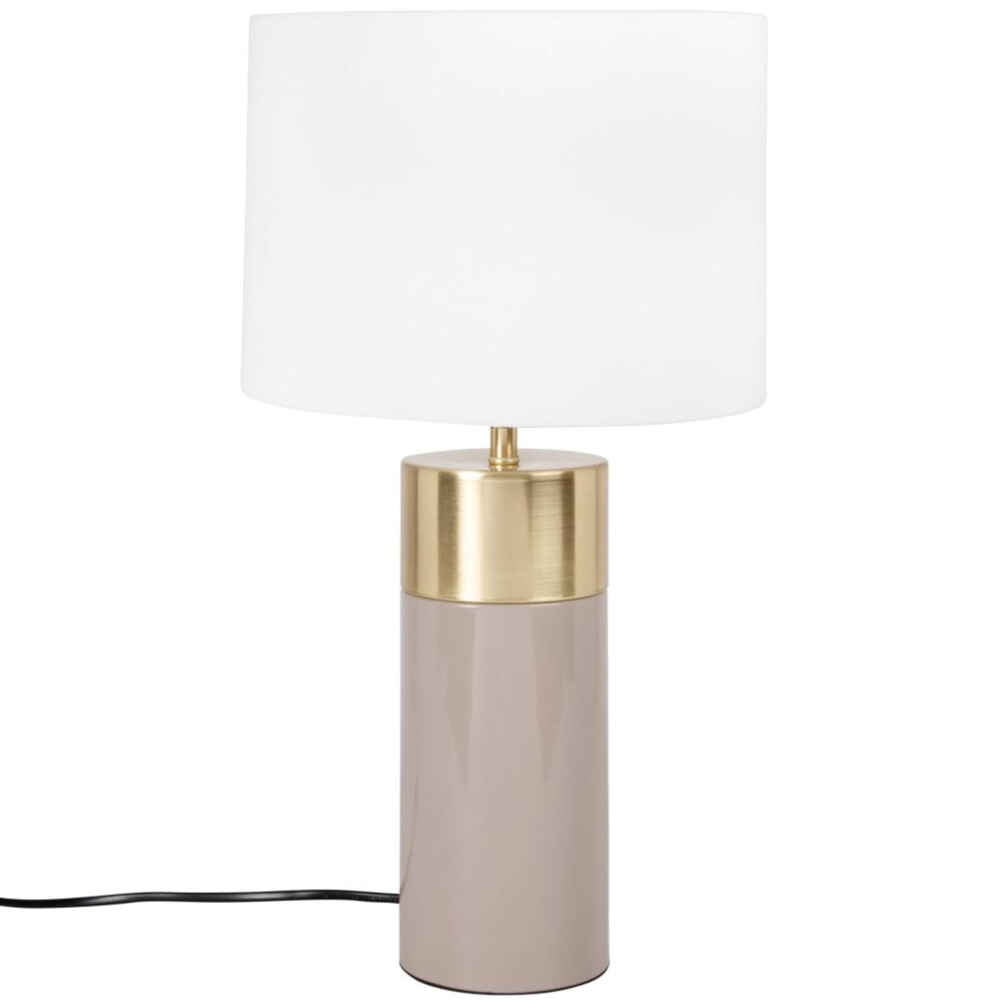 Lampe en métal taupe