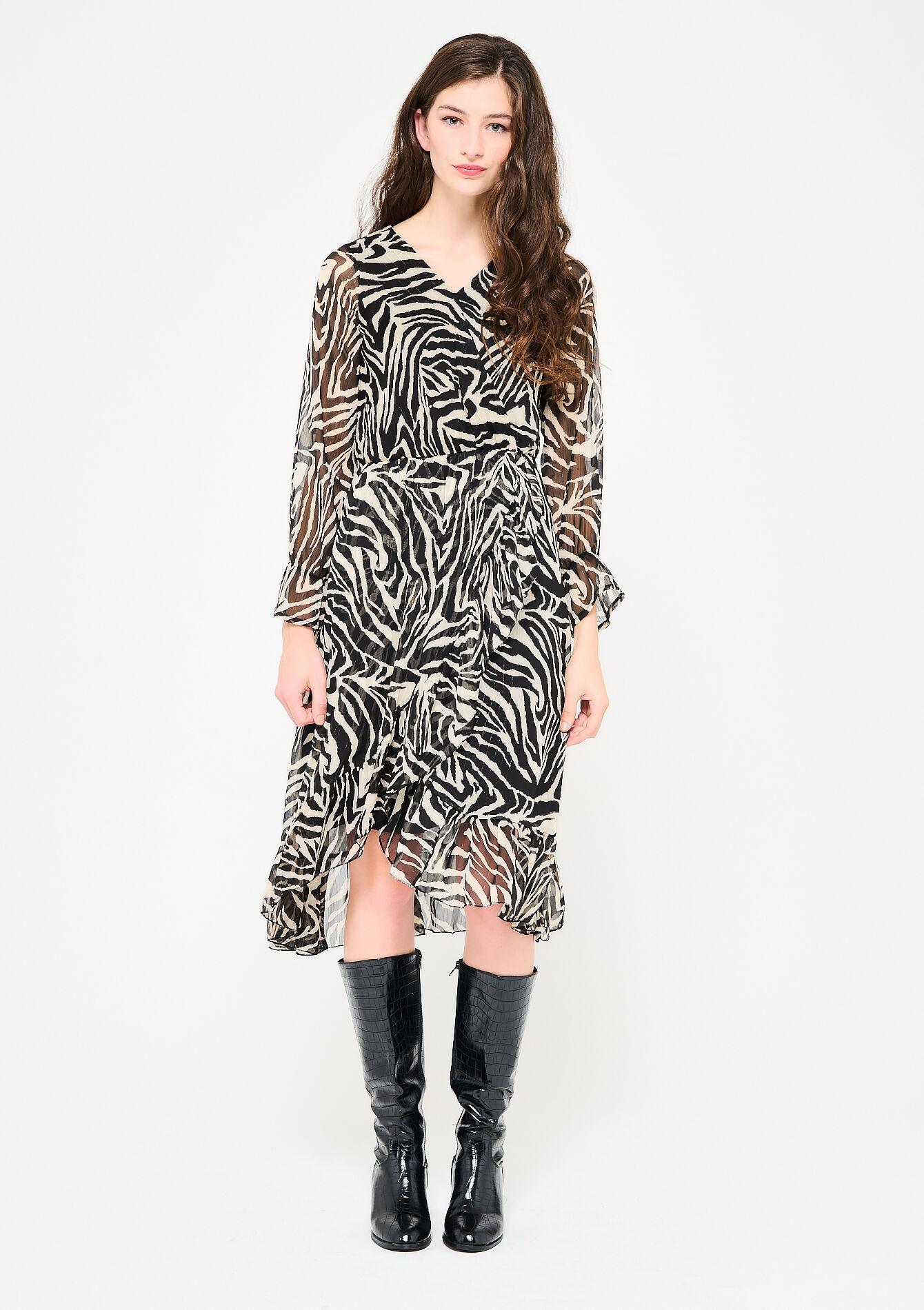 La robe cache-coeur à imprimé zèbre