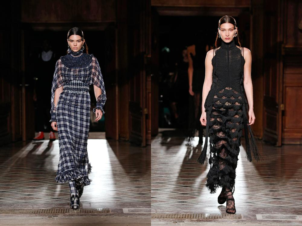 Bella Hadid and Kendall Jenner in Givenchy show