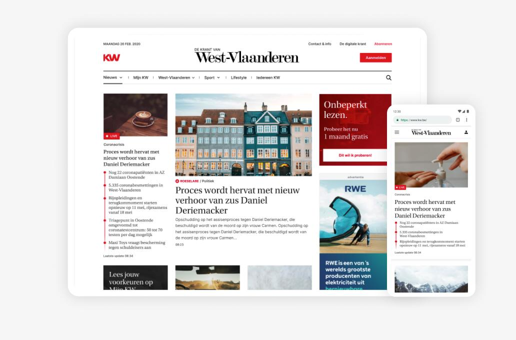 E-krant + KW.be