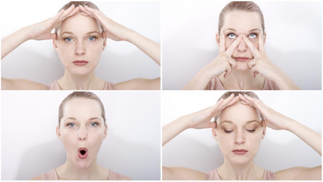gymnastique facial double menton