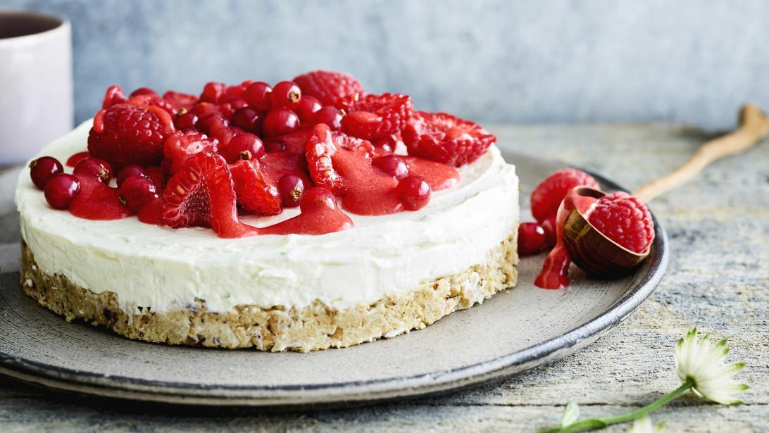 Gezond genieten op zondag: cheesecake met rood fruit