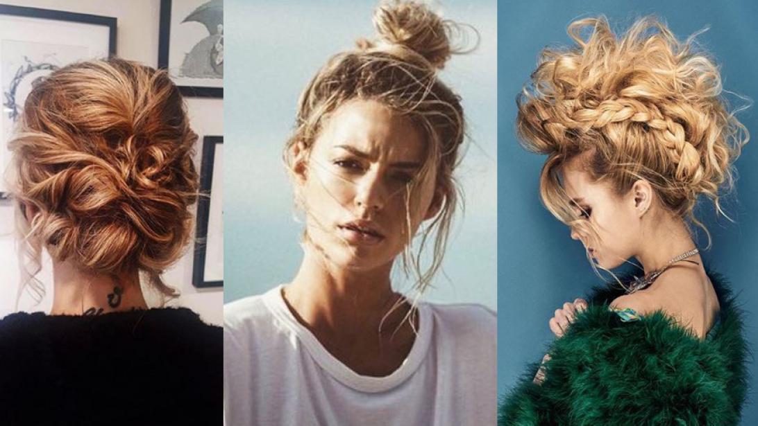Super Braids, messy buns en mohawks: 6 x opsteekkapsels voor lang haar @YS35