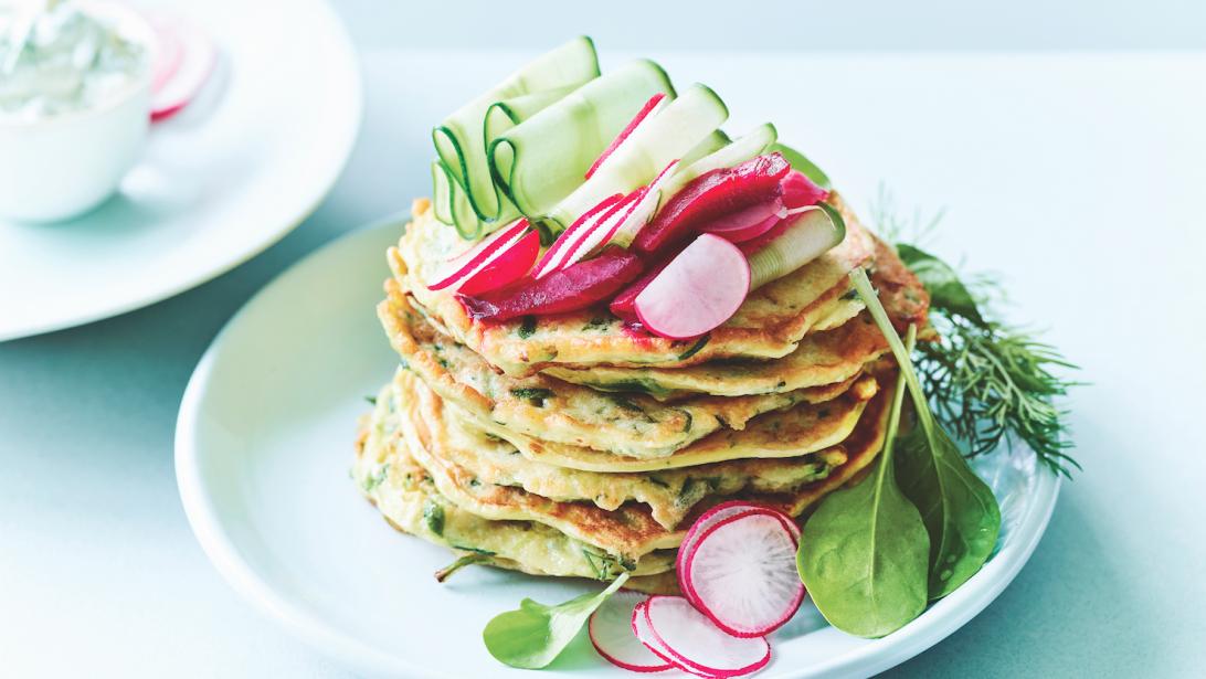 Original & healthy: la recette des pancakes aux courgettes - Gael.be