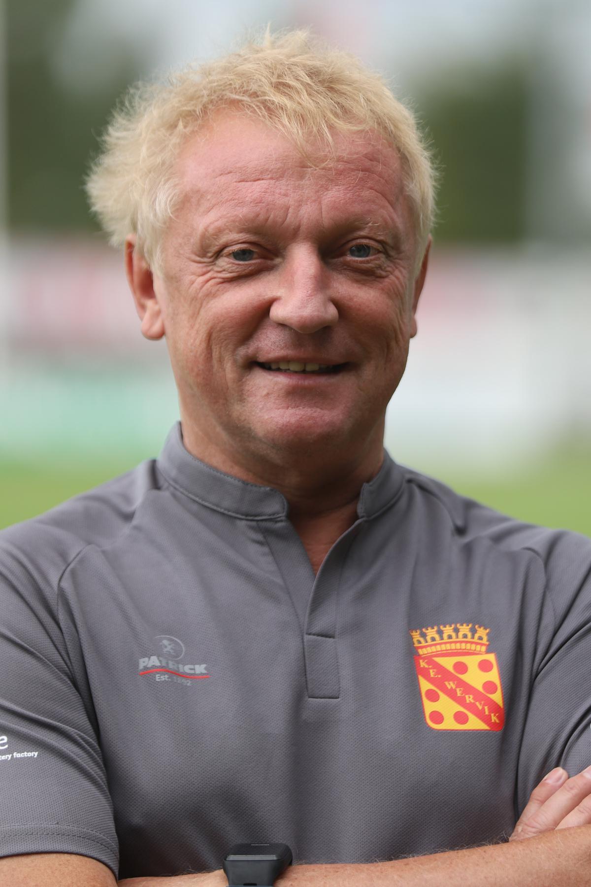 Maxim Vandamme als trainer van Wervik waar hij nu aan zijn elfde seizoen toe was.©Marnix Goemaere / VDB VDB