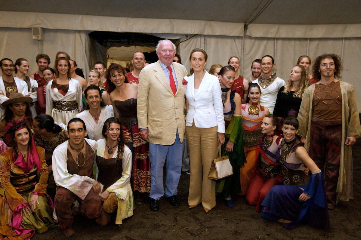 Samen met prinses Claire bij de verjaardagsshow van Cavalia in 2008.© BELGA