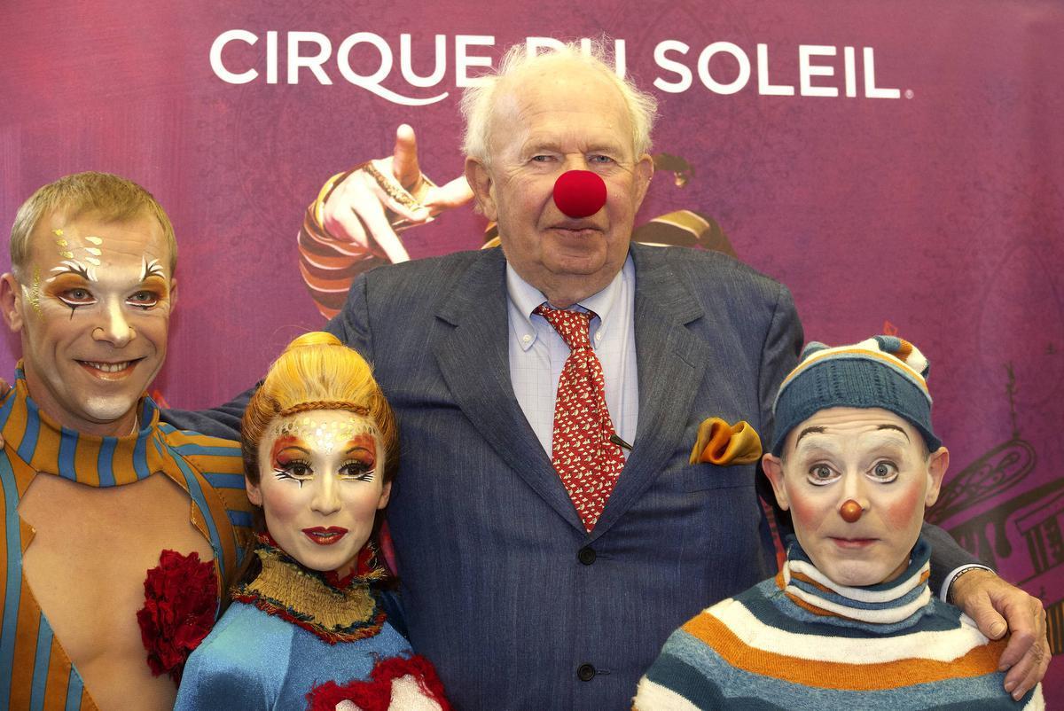 Bij de voorstelling van Cirque du Soleil in Knokke-Heist in 2013.© BELGA