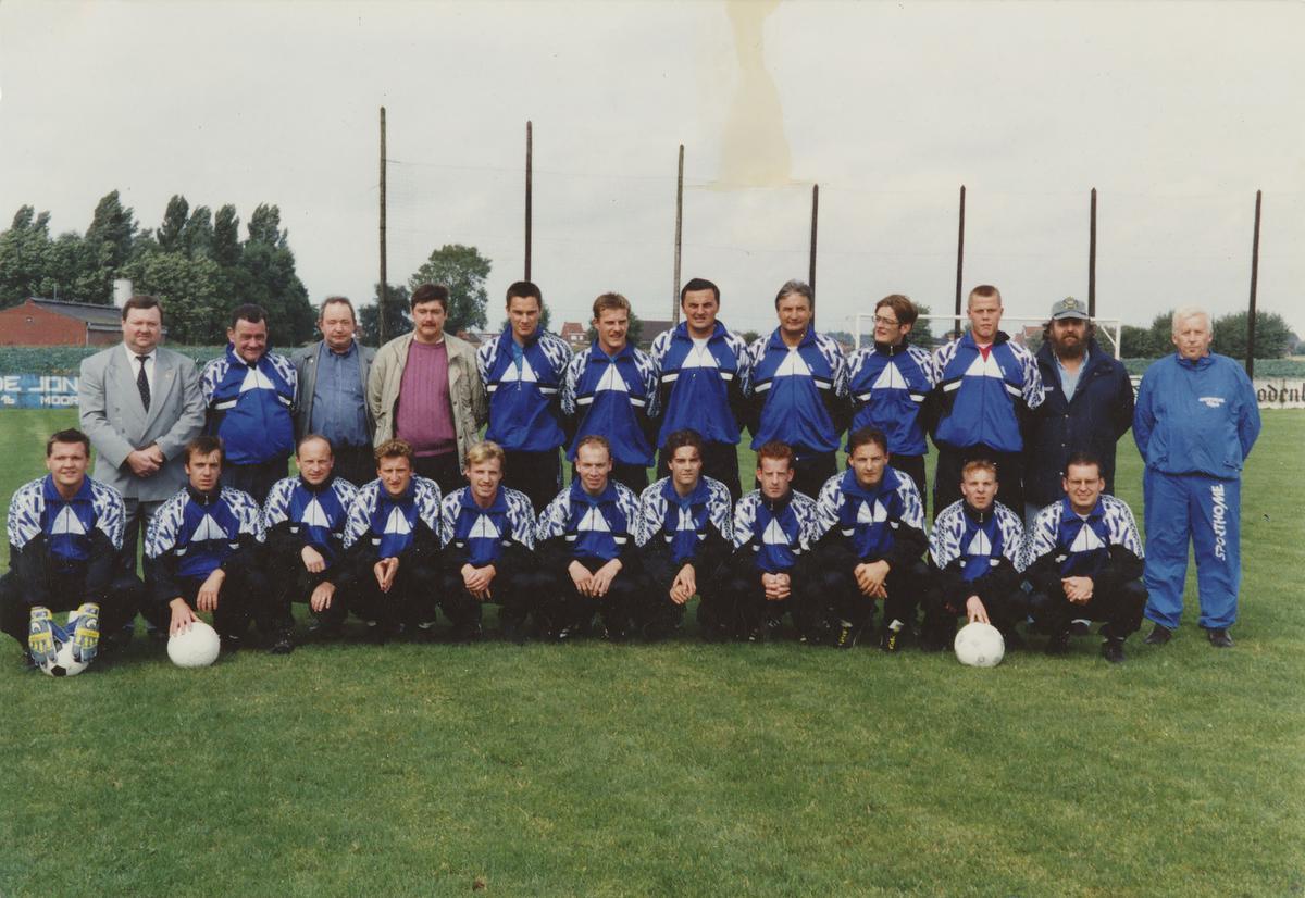 Een teamfoto bij KSV De Ruiter.