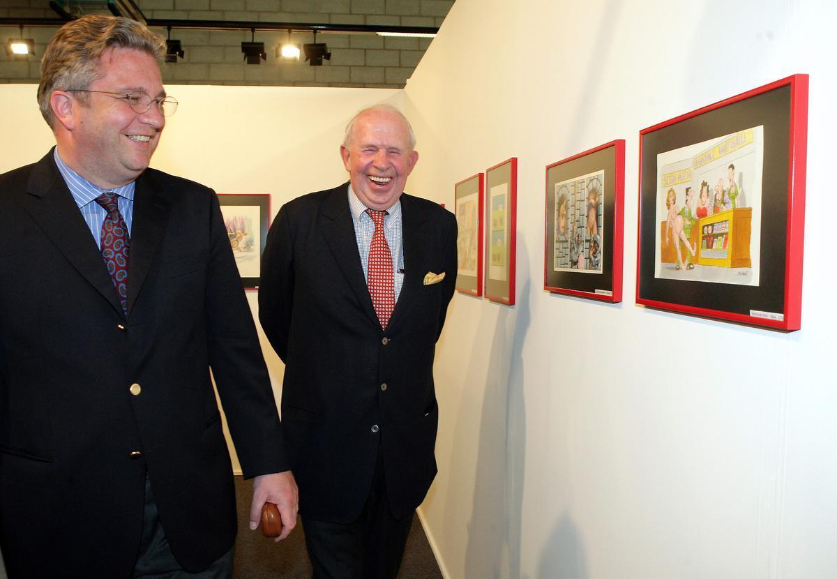 Met Prins Laurent tijdens de opening van het Cartoon Festival in Knokke in 2005.© BELGA