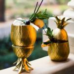 Un verre à cocktail ananas