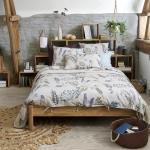 Linge de lit en lin à imprimé floral