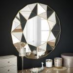 Miroir à reliefs géométriques