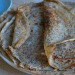 Crêpes vegan au graines de chia mixées