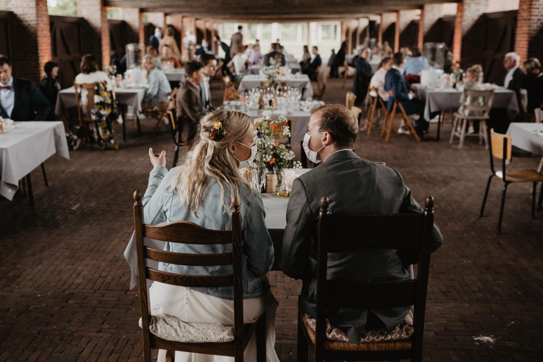 Diner trouwfeest tijdens corona