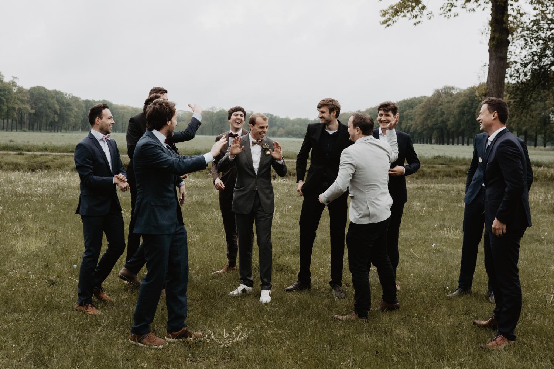 Groepsfoto's trouwfeest