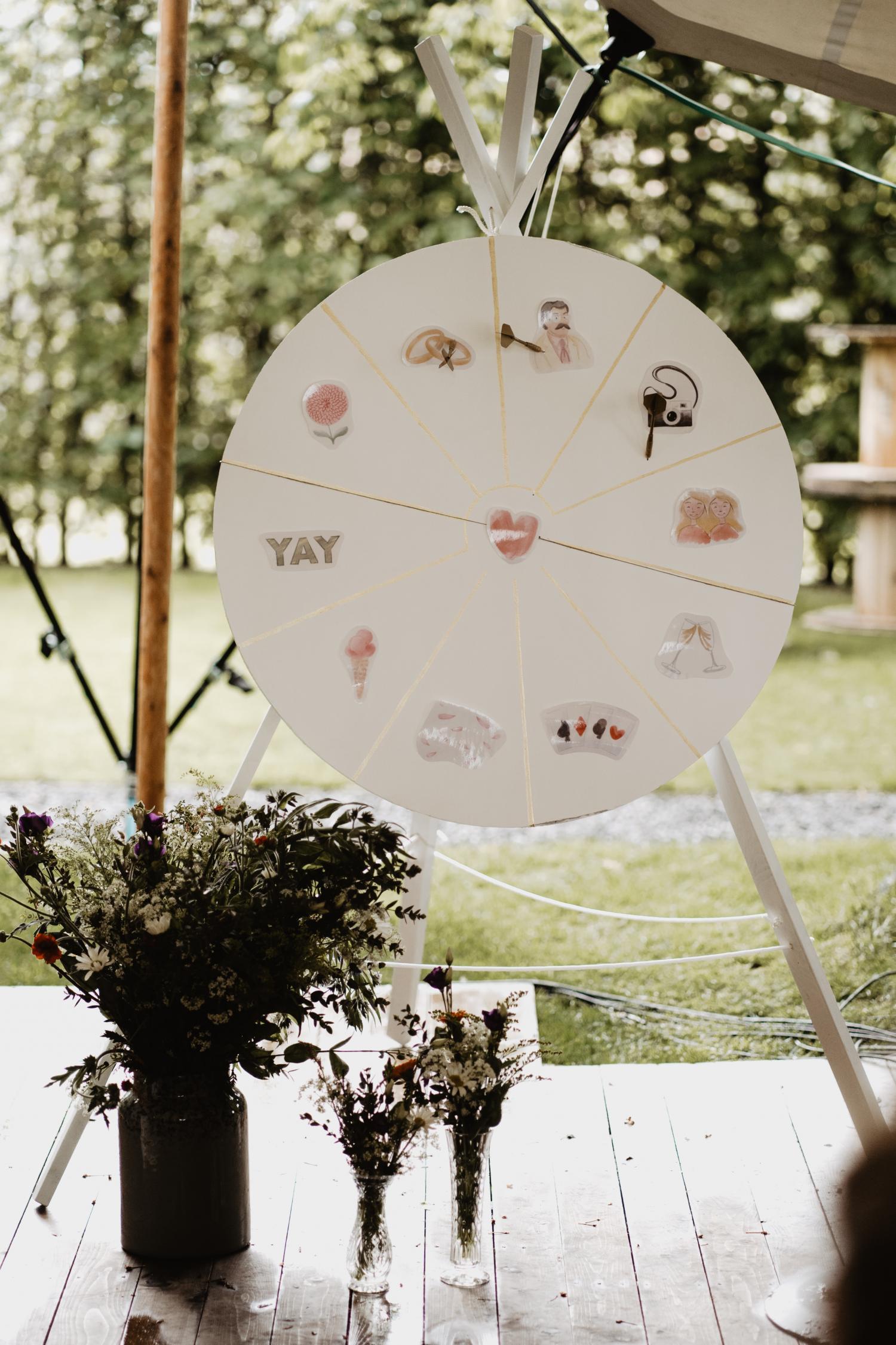 Dartsbord trouwceremonie